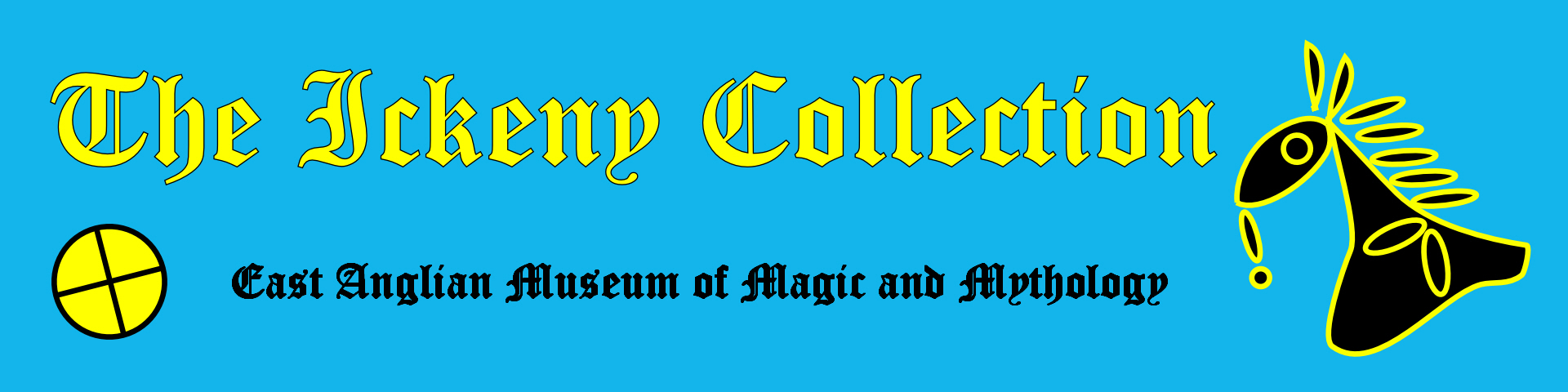 THe logo for The Ickeny Collection, East Anglian Museum of Magic and Mythology, forming a link to the Events page